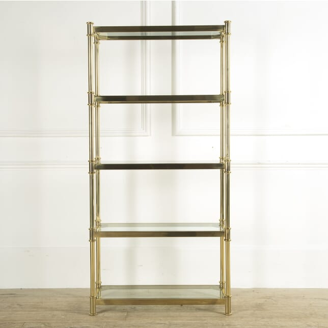 Vintage Brass and Glass Open Shelves BK159323