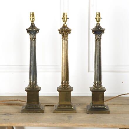 Vintage Corinthian Column Brass Table Lamps LT059947