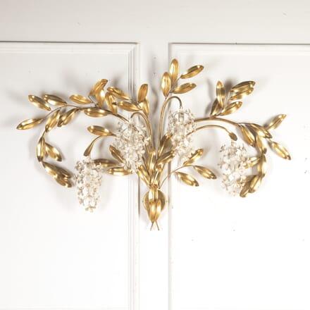 Mid Century Gold Leaf Wall Light LW8114394