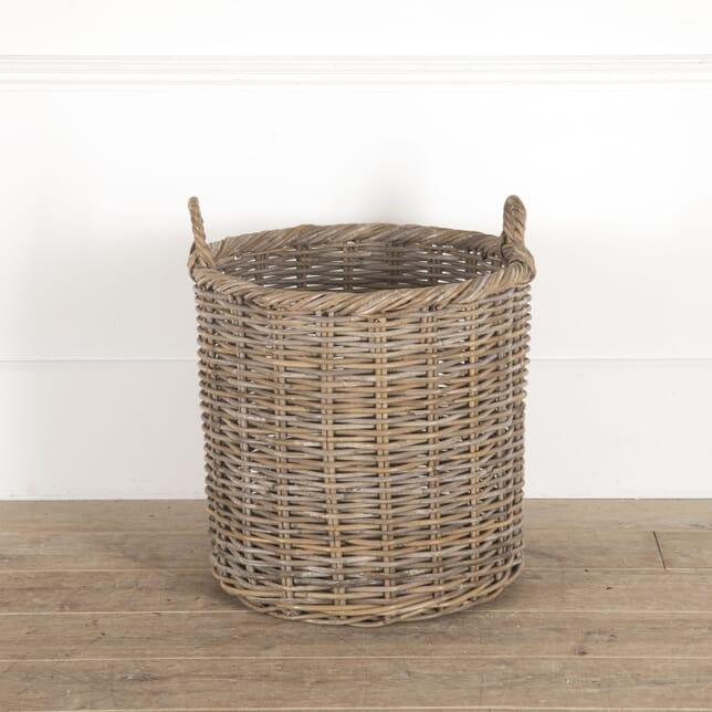 Circular Woven Willow Log Basket DA0514367