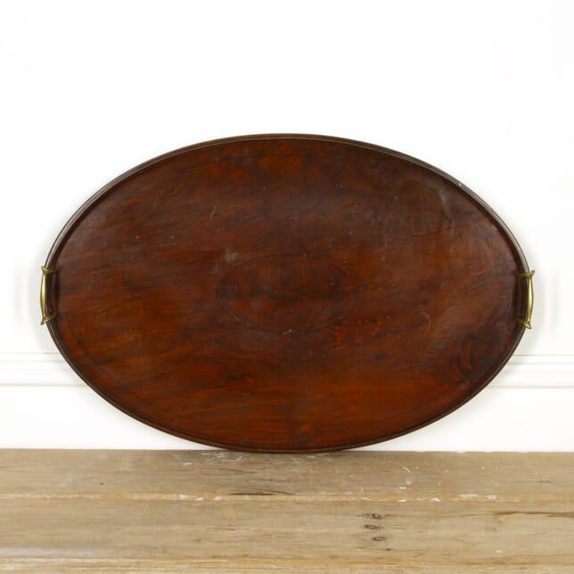 Walnut and Brass Edwardian Butlers Tray DA9417277