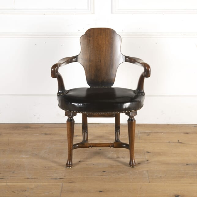 Walnut Shepherd's Crook Armchair CH8413925