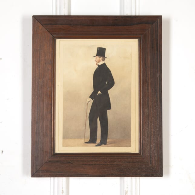 Watercolour Portrait of Regency Gentleman WD8016028