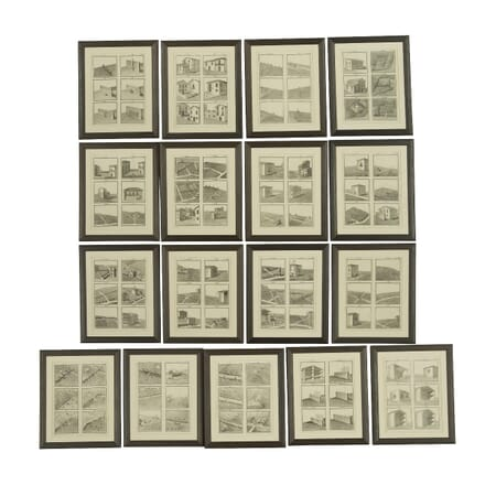 Set of Seventeen Framed Giovanni Donegani Engravings WD159108