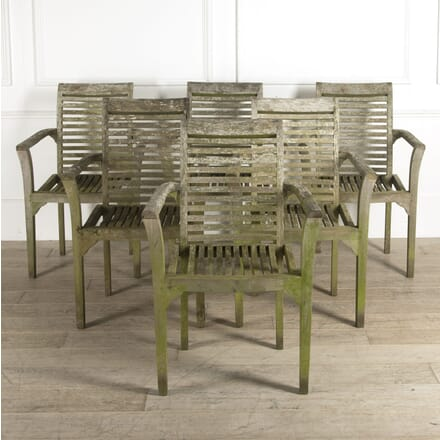 Weathered Teak Garden Table and Four Chairs GA9210304