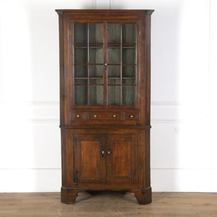 Welsh Glazed Corner Cupboard CU2812571