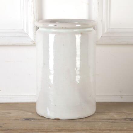 White Glazed Pot DA9913734