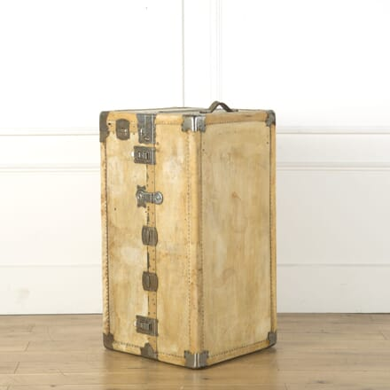 White Leather Travelling Trunk CB739173