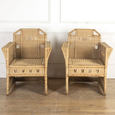 Pair of Art Nouveau Wicker Armchairs OF7616449