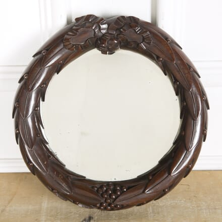 William IV Mahogany Circular Mirror MI4310109
