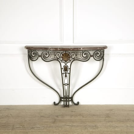 Wrought Iron Console Table with Marble Top CO529266