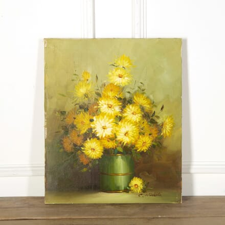 Yellow Blooms Still Life, Oil on Canvas WD719153