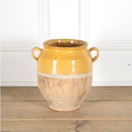 Yellow Glazed Confit Pot DA1510037