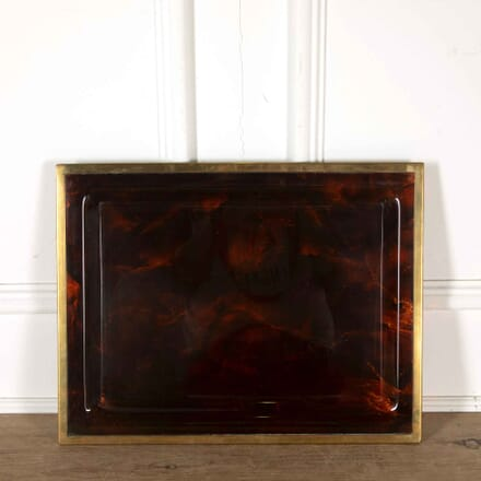Faux Tortoiseshell Dior Style Tray with Brass Edging DA298123