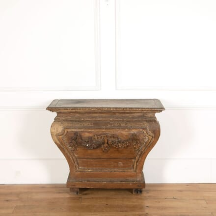 Decorated Oak Console Table CO478832