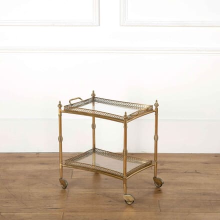 French Brass Drinks Trolley or Bar Cart TS358080