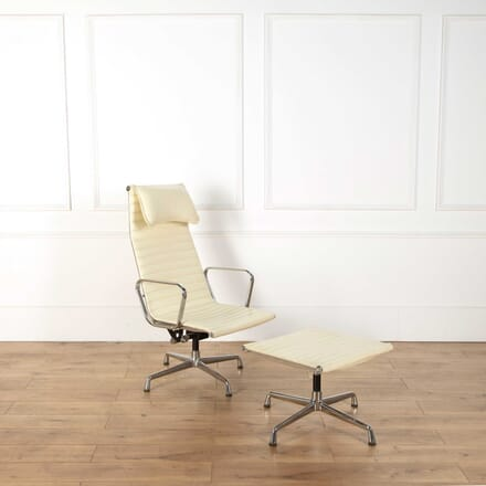 Eames EA 124 and 125 Chair and Stool CH408385