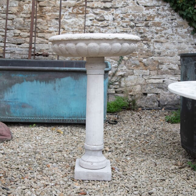 Early 19th Century Natural Limestone Shallow Bowl GA198014