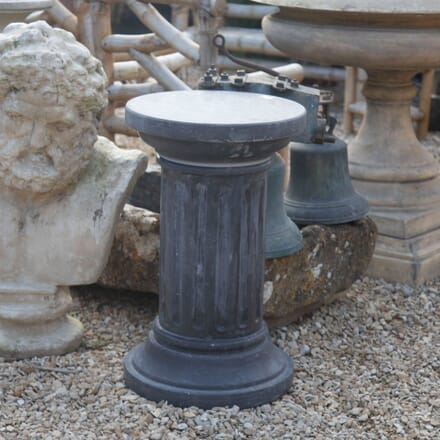 Early 20th Century Slate Fluted Revolving Pedestal GA428018