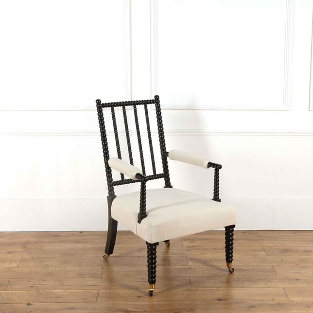 19th Century Ebonised Bobbin Armchair CH638107