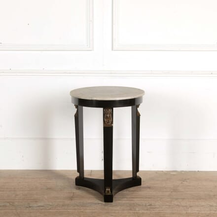 Ebonised Directoire Marble Top Table CO458423