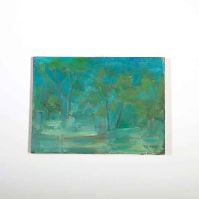 English Abstract Painting of Trees WD288520