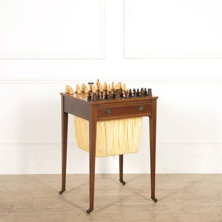19th Century English Games Chess Table TC288457
