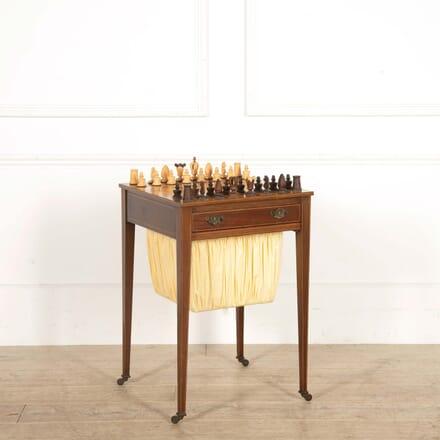 19th Century English Games Chess Table TC288457