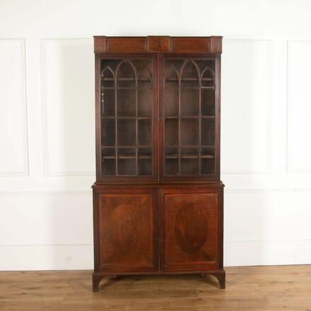 English Mahogany Bookcase BK478818