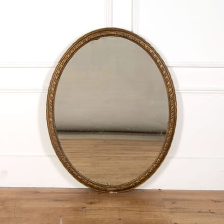 English Oval Gilded Mirror MI478830