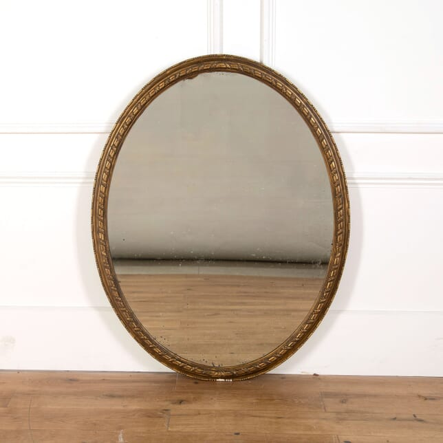 English Oval Gilded Mirror MI478830