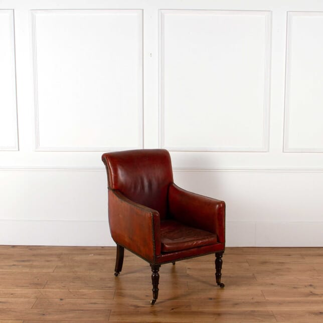 English Regency Leather Library Chair CH018419