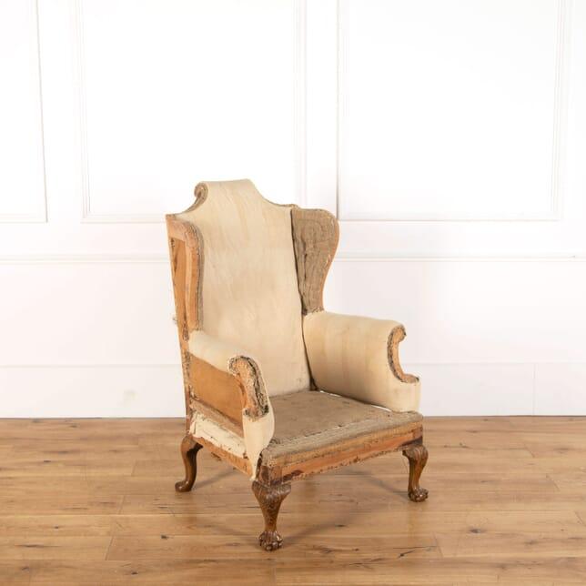 English Walnut Wing Chair CH478819