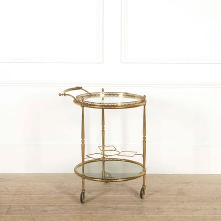 French Brass Cocktail Trolley TS458797
