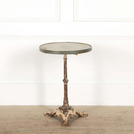 French Iron and Marble Bistro Table GA458799