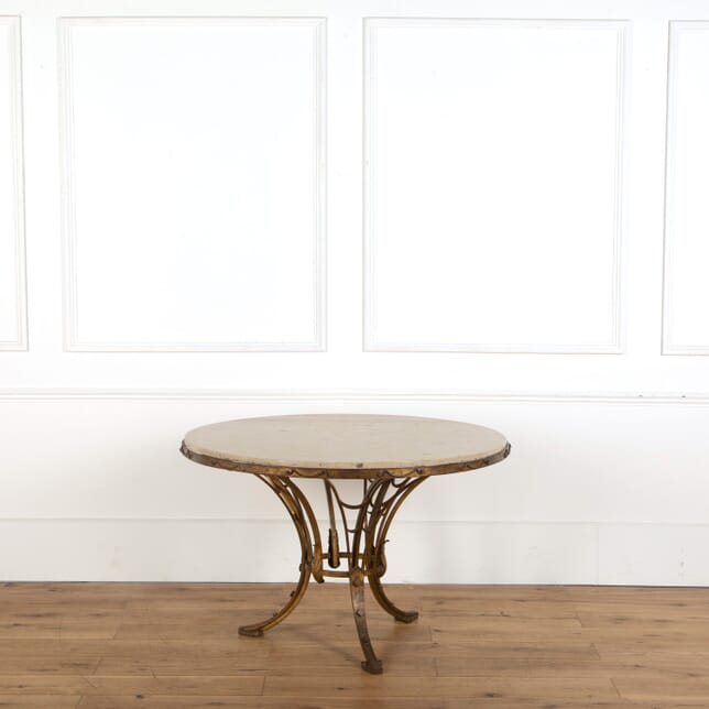French Iron and Marble Table TD748844