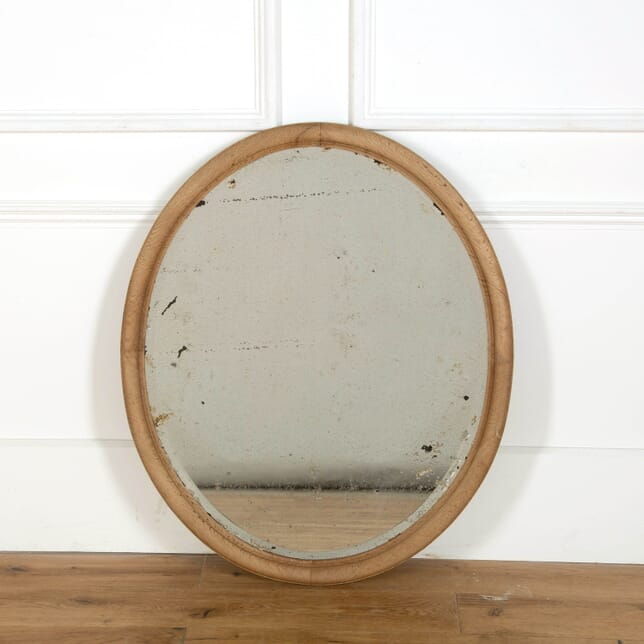 French Oval Oak Framed Mirror MI358303