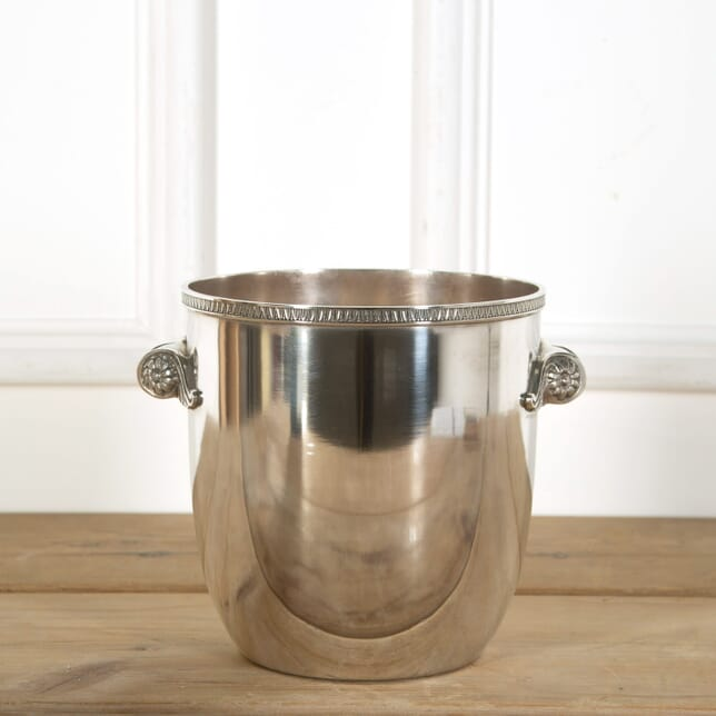 French Scroll Handled Silver Plated Champagne Wine Bucket Cooler DA588979