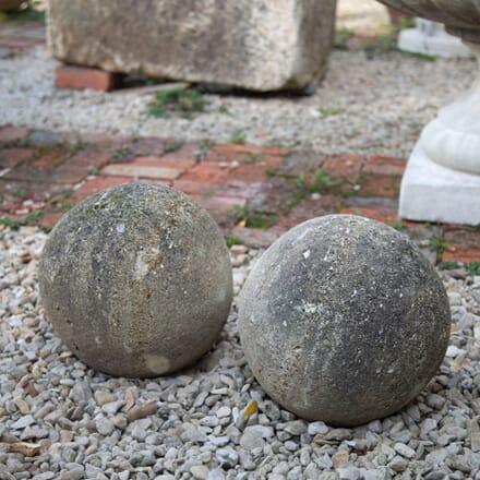 Pair of Natural Limestone spheres GA197747