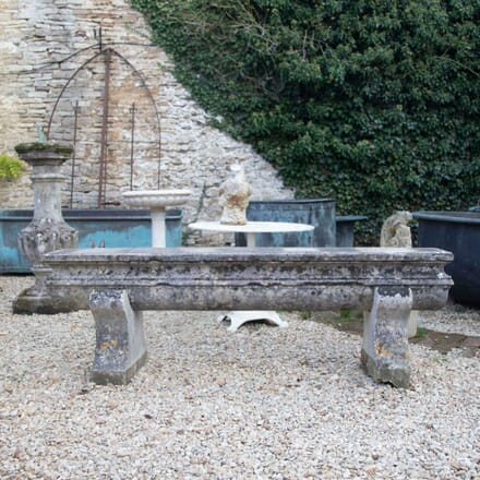 Early 19th Century Natural Caen Stone Bench GA197749
