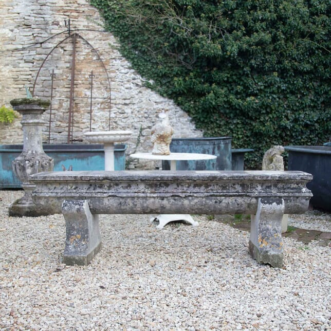 Early 19th Century Natural Caen Stone Bench GA197749