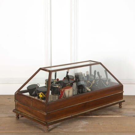 Glass Display Case of French Helmets BK558673