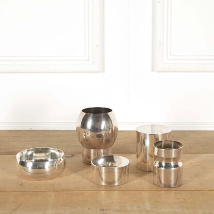 Group of 5 Silver Plated Vessels by Maison Christofle DA298585