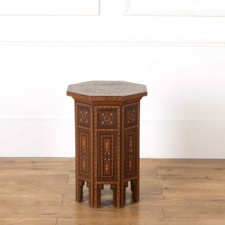 Hexagonal Inlaid Syrian Table TC538205
