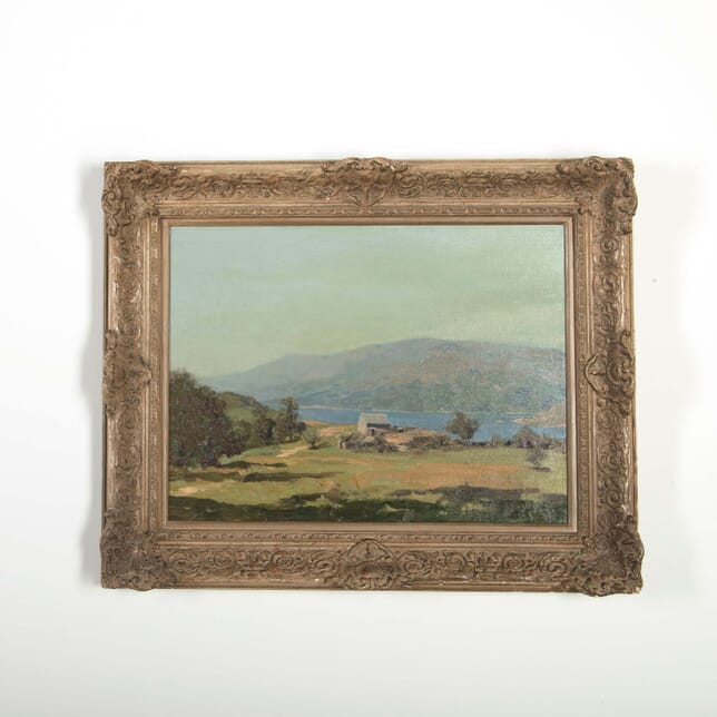 House by the lake English Lakeland Painting WD288514