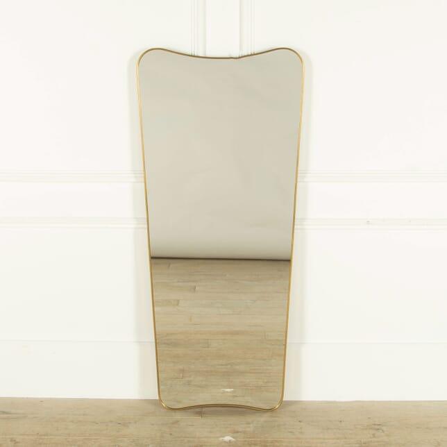 Italian Brass Mirror MI458983