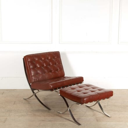 Knoll Studio Barcelona Chair and Footstool by Ludwig Miles Van Der Rohe CH398378