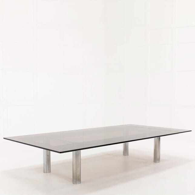 Large 1960s Two Metre Tobia Scarpa 'Andre' Chrome Coffee Table CT068494