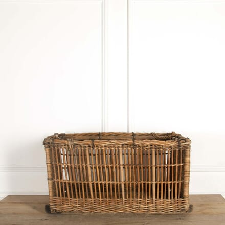 Large French Wooden Framed Basket DA448739