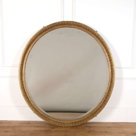 Large Gilded Oval Mirror MI478829